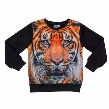 All-over print crewneck sweater met tijger voor kinderen kopen
