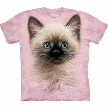 All-over print kids t-shirt bruin katje kopen