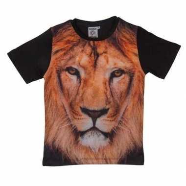 All-over print t-shirt met leeuw voor kinderen kopen