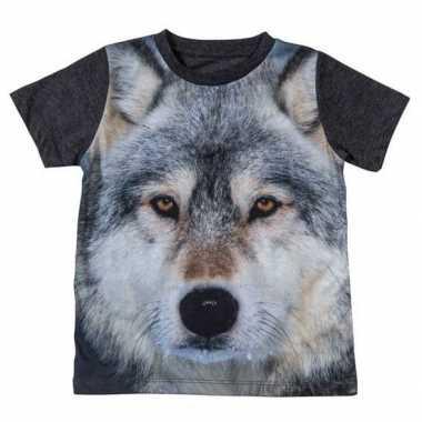 All-over print t-shirt met wolf voor kinderen kopen
