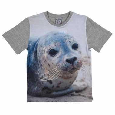 All-over print t-shirt met zeehond voor kinderen kopen