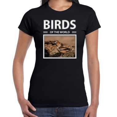 Appelvink foto t-shirt zwart voor dames - birds of the world cadeau shirt appelvinkjes liefhebber kopen