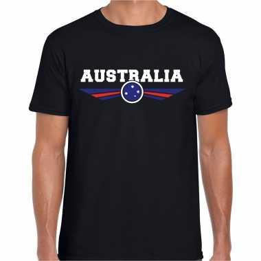 Australie / australia landen shirt met australische vlag zwart voor heren kopen