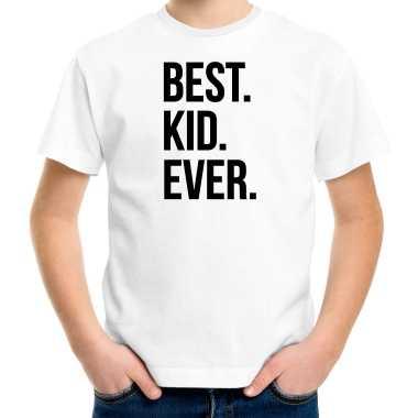 Best kid ever punt - t-shirt wit voor kinderen - verjaardag cadeau funshirt kopen