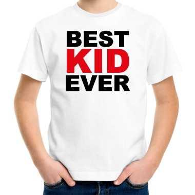 Best kid ever t-shirt wit voor kinderen - verjaardag cadeau funshirt kopen