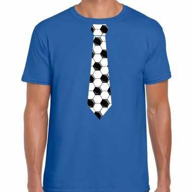 Blauw fan shirt / kleding voetbal stropdas ek/ wk voor heren kopen