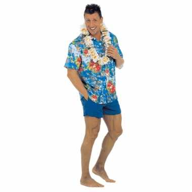 Blauw Hawaii overhemd voor heren kopen