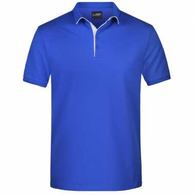 Blauwe premium poloshirt golf pro voor heren kopen