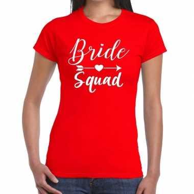 Bride to be vrijgezellenfeest t-shirt rood voor dames kopen
