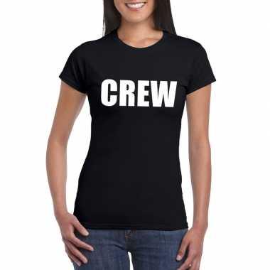 Crew t-shirt zwart voor dames kopen