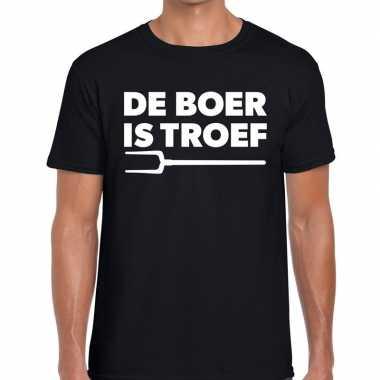 De boer is troef zwarte cross t-shirt zwart voor heren kopen