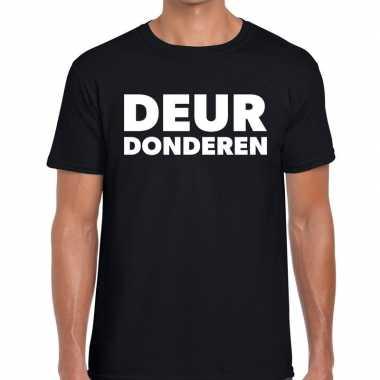 Deur donderen zwarte cross t-shirt zwart voor heren kopen