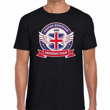 Engeland drinking team t-shirt zwart heren kopen