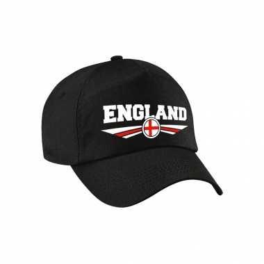 Engeland / england landen pet / baseball cap zwart voor kinderen kopen