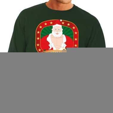 e698f93e874 Foute kersttrui groen vieze kerstman heren kopen | T-shirts-kopen.nl