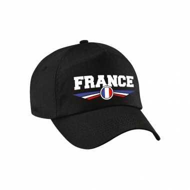 Frankrijk / france landen pet / baseball cap zwart voor kinderen kopen