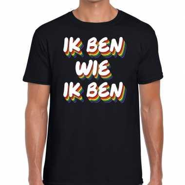 Gay pride ik ben wie ik ben shirt zwart heren kopen