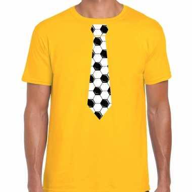 Geel fan shirt / kleding voetbal stropdas ek/ wk voor heren kopen