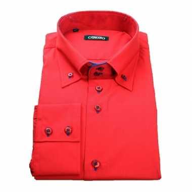 Heren Overhemd Rood.Giovanni Rood Heren Overhemd Kopen T Shirts Kopen Nl