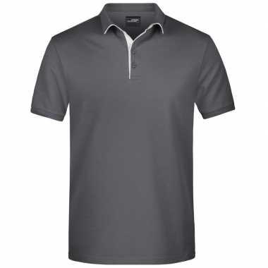 Grijze premium poloshirt golf pro voor heren kopen