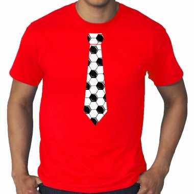 Grote maten rood fan shirt / kleding voetbal stropdas ek/ wk voor heren kopen