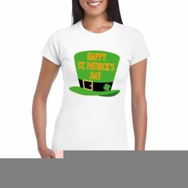Happy st. patricksday t-shirt wit dames kopen