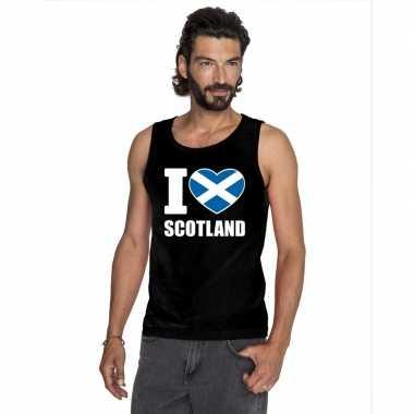 I love schotland supporter mouwloos shirt zwart heren kopen