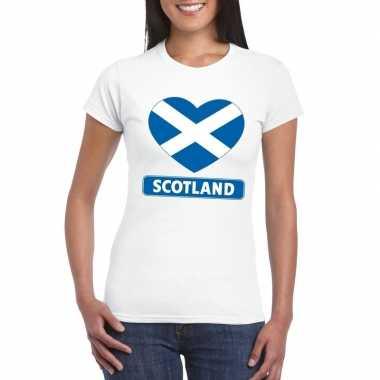 I love schotland t-shirt wit dames kopen