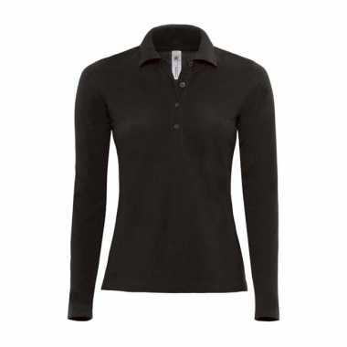 Zwarte Kleding Kopen.Kleding Zwarte Dames Poloshirt Lange Mouw Kopen T Shirts Kopen Nl