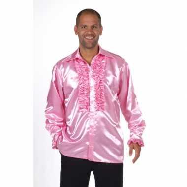 6fa8b79a0a15af Lichtroze feest blouse voor heren kopen