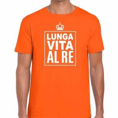 Lunga vita al re italiaans shirt oranje heren kopen