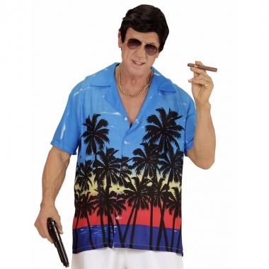 Maffia kostuum blauw overhemd voor heren kopen