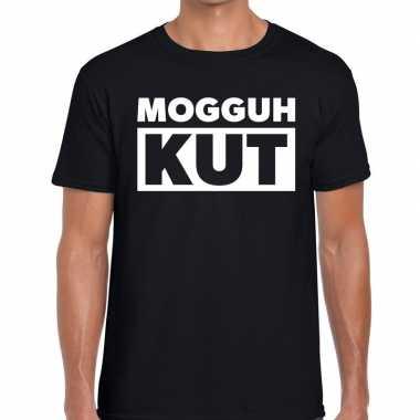Mogguh kut zwarte cross t-shirt zwart voor heren kopen