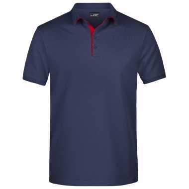 Navy blauwe premium poloshirt golf pro voor heren kopen