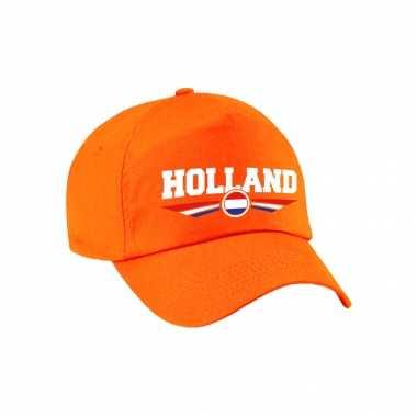 Nederland / holland landen pet / baseball cap oranje voor volwassenen kopen