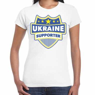 Oekraine / ukraine supporter t-shirt wit voor dames kopen