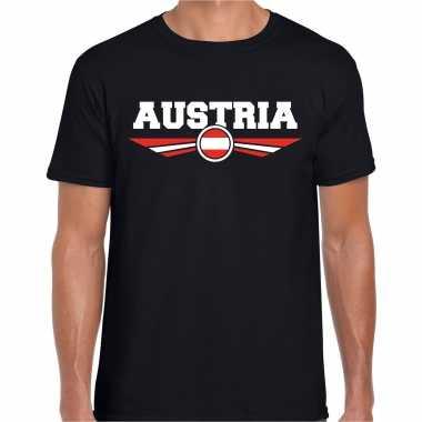 Oostenrijk / austria landen shirt met oostenrijkse vlag zwart voor heren kopen