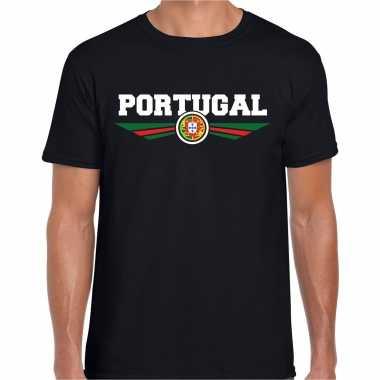 Portugal landen shirt met portugese vlag zwart voor heren kopen