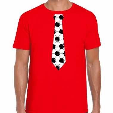 Rood fan shirt / kleding voetbal stropdas ek/ wk voor heren kopen