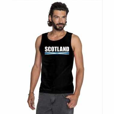 Schotland supporter mouwloos shirt/ tanktop zwart heren kopen