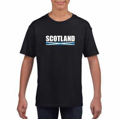 Schotse supporter t-shirt zwart voor kinderen kopen