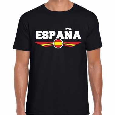 Spanje / espana landen shirt met spaanse vlag zwart voor heren kopen