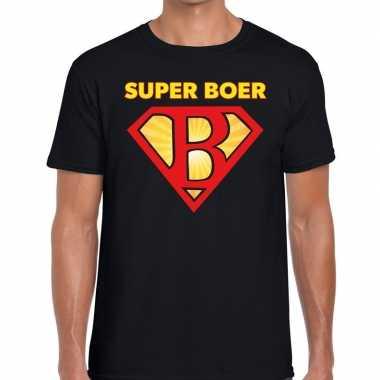 Super boer zwarte cross t-shirt zwart voor heren kopen