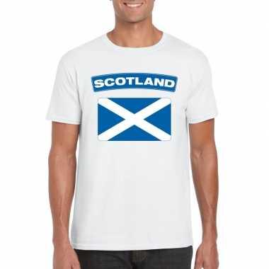 T-shirt schotse vlag wit heren kopen