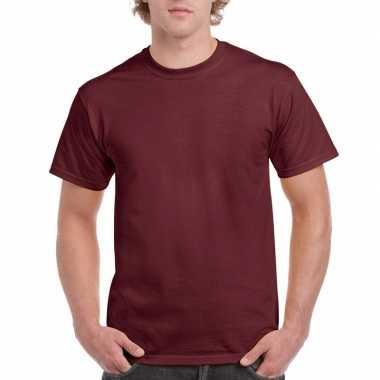 Voordelig bordeauxrood t-shirt voor volwassenen kopen