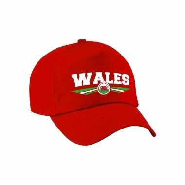 Wales landen pet / baseball cap rood voor volwassenen kopen