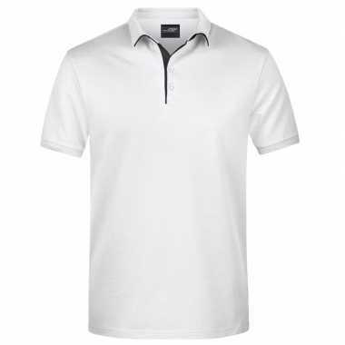 Witte premium poloshirt golf pro voor heren kopen