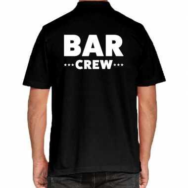 Zwart bar crew polo t-shirt voor heren kopen