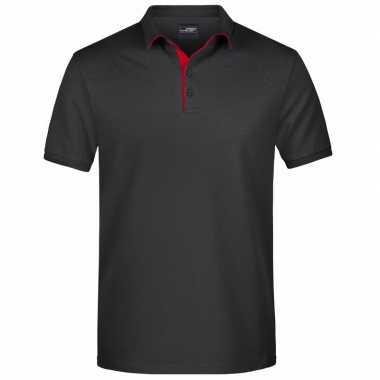Zwarte premium poloshirt golf pro voor heren kopen