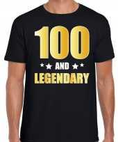100 and legendary verjaardag cadeau shirt kleding 100 jaar zwart met goud voor heren kopen